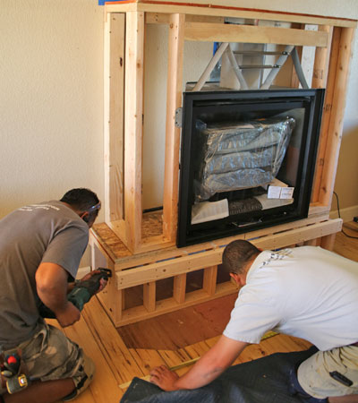 Fireplace Hearth And Surround Remodeling